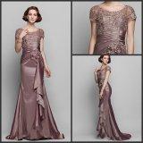 Sheath Formal Gown Lace Satin Evening Dress W1471917