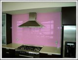 Splashback Panel Painted Glass with Blue Green Bronze Red Pink Color