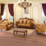 Wooden Fabric Sofa for Living Room Furniture (619D)