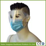 Anti Fog, Splash Ear Loop Blue Face Mask with Eye Shield
