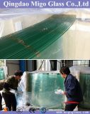 6mm+6mm Curved Toughened Laminated Glass for Glass Railings
