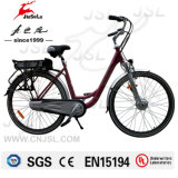 Brushless Motor 36V Lithium Battery Red Electric City Bike (JSL036A-7)