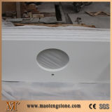 Pure White Artificial Stone Bathroom Quartz Vanity Tops for Hot Selling