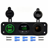 Triple 3.1A Dual USB Port Charger Voltmeter 12V Socket Panel Mount Marine Power Waterproof Short Circuit Overheat Protection Outlet Plug Jack
