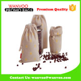 Durabilty Coffee Bean Cotton Drawstring Storage Pouch Customized Logo