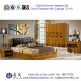 PU Leather Bed Luxury Hotel Bedroom Furniture (702A#)