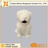 Unpaint Ceramic Animal Figurine Dog Piggy Bank Toy for Kids