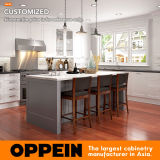 Oppein Matte Lacquer Small Shaker Kitchen Cabinets with Island Op17-L07