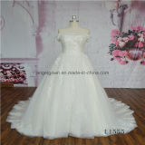 off Shoulder Short Sleeve A Line Lace Bridal Wedding Dress