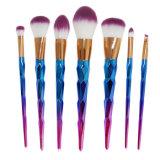 7PCS Colorful Diamond Handle Rainbow Makeup Brush Set