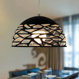 China Supply Modern aluminium Black Chandelier Pendant Lamp with Hole