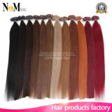 Flat Tip Hair Extensions Pre Bonded Keratin Glue Fusion Hair Extensions Indian Remy Colorful Human Hair Pieces Colour 1b#