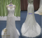 Very Beautiful Embroidery Beaded Wedding Dress