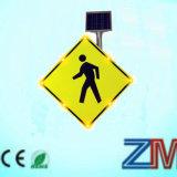 Solar LED Pedestrian Crossing Traffic / Road Warning Sign