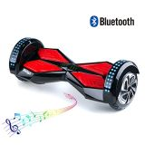 8 Inch Tires Electric Scooter with Bluetooth and LED Hoverboard