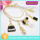 Fashion Women Custom Infinity Shamballa Metal Gold Bead Charm Bracelet