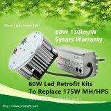 2015 Hot Sale 50000 Hours Lifespan Retrofit Kit Replace 175W Metal Halide/HPS Mean Well Driver LED High Bay Retrofit 60W