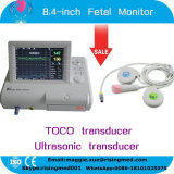 Single Twins 8.4 Inch Fetal Monitor with Toco/Ultrasonic Transducer Fetal Mark for Pregnant Women Fetal Heart Rate Monitoring by CE ISO Approved - Maggie