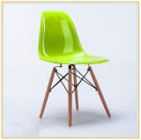 Wholesale Cheap Leisure Replica Plastic Chairs with Wooden Legs