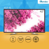 "42"" Low Power Consumption Television for Home/Hotel with Aluminium Alloy Fram 42j1-5L"