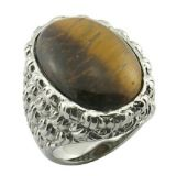 Tiger Eye Stone Stainless Steel Fashion Ring