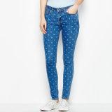 OEM Women Printing Denim Legging Jeans Fashion Legging Pants