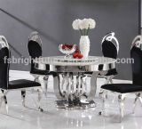 Modern Glass Dining Table and Stainless Steel Dining Table