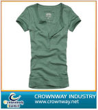 Casual Slim Fit Girl′s T Shirt Made of 100% Cotton
