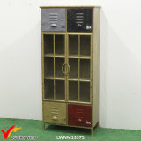 Vintage Handmade Metal Cabinets for Storage Display