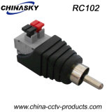 """Male CCTV RCA Adapter with """"Press-Fit"""" Terminal Blocks (RC102)"""