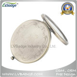 Blank Antique Bronze Double Shape Metal Compact Mirror