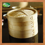 Bamboo Steamer with Loop Handle Traps