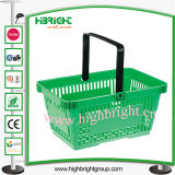 Single Handle Portable Plastic Shopping Basket for Supermarket