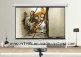 "80X80"" Portable Manual Projection Screen HD Matte White"