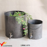 Handmade Bucket Style Metal Vintage Faucet Planter
