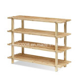 Four Tiers of Pine Shoe Rack with CE (G-SR06)