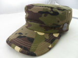 Custom High Quality Camouflage Flat Military Cap