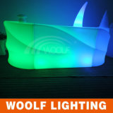 Lighting Round Plastic Bar Counter/Portable LED Bar Counter