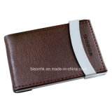 Elegant Leather Business Card Holder for Men (BS-L-0011)