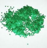 Wholesale Holiday Decoration Green Star Glitter