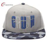 Fitted 3D Embroidered Snapback Cap with Camo on The Visor