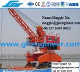 10t40m Low Portal Grab Mobile Railway Harbour Jetty Crane