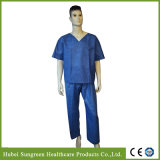 Disposable SMS Scrub Suit, Neck with No Binding