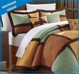 7PCS Microsuede Color Patchwork Design Comforter Bedding