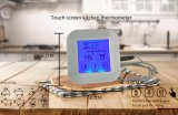 Square Touch Screen Digital Kitchen Meat Thermometer with Timer