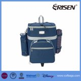 Rolling Detachable Picnic Food Cooler Bag for 4 Person