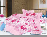 85GSM 100% Microfiber Printed Complete Bedding Sheets Set with Cozy Touch Flat Sheets