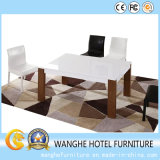 Hotel Banquet Restaurant Leather Chair and Solid Wood Table