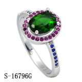 New Model 925 Sterling Silver Jewelry Ring with Colored CZ