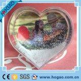 Plastic Snow Globe Photo Frame Love Theme Heart Shaped Plastic Snow Globe with Photo Insert